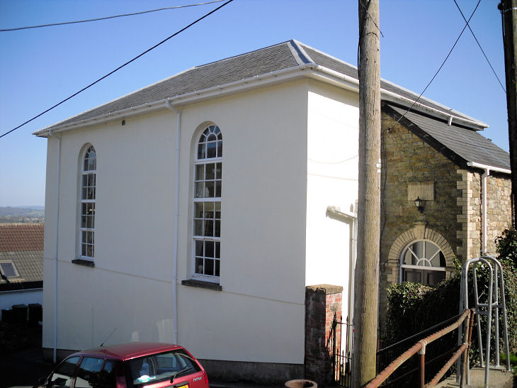 The former Bethel Congregational Church at Upper Cwmbran, now a private  residence. © Gerard Charmley (2010).